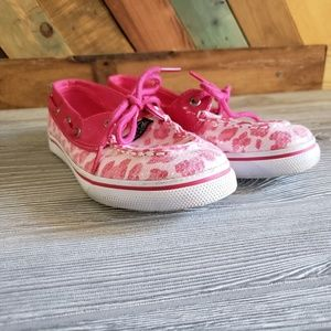 Sperry's Pink Cheetah Top-Siders size 4